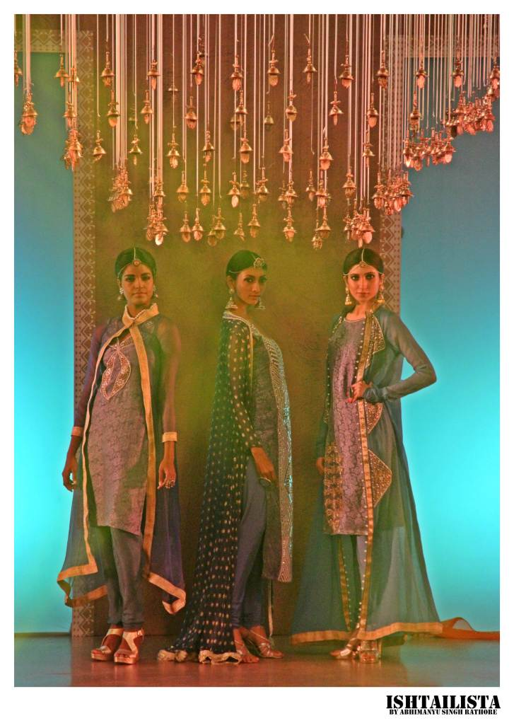 Model Nikita Sahay (left) Lakshmi Rana(middle) and Kanika Dev (right)