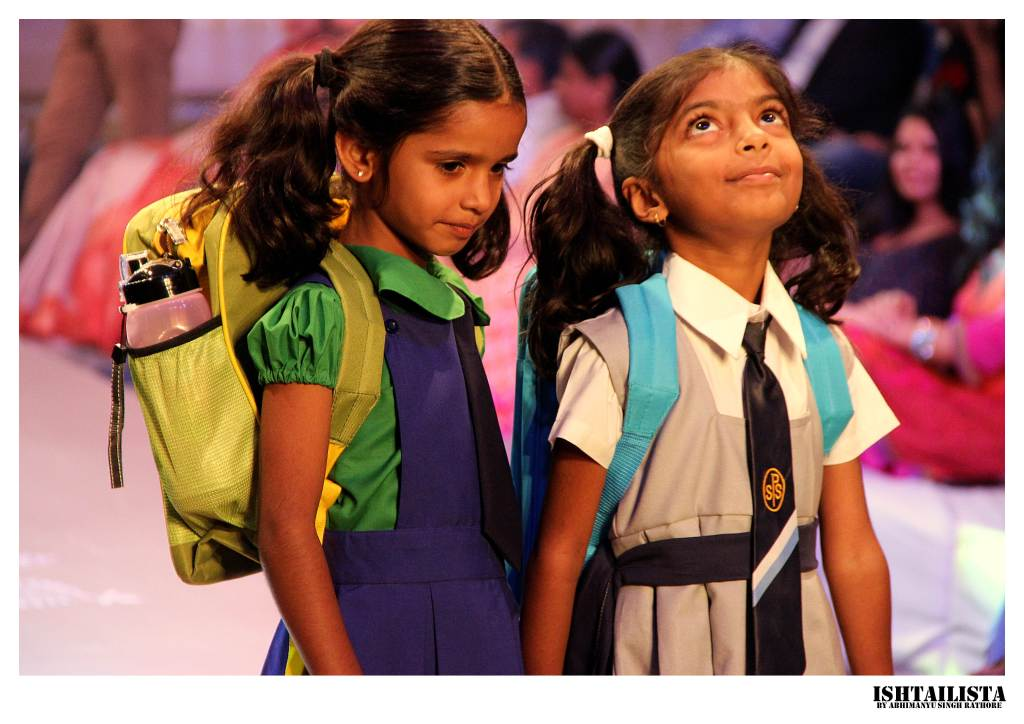 Kids were also sent on runway and showcased a line of school uniforms.