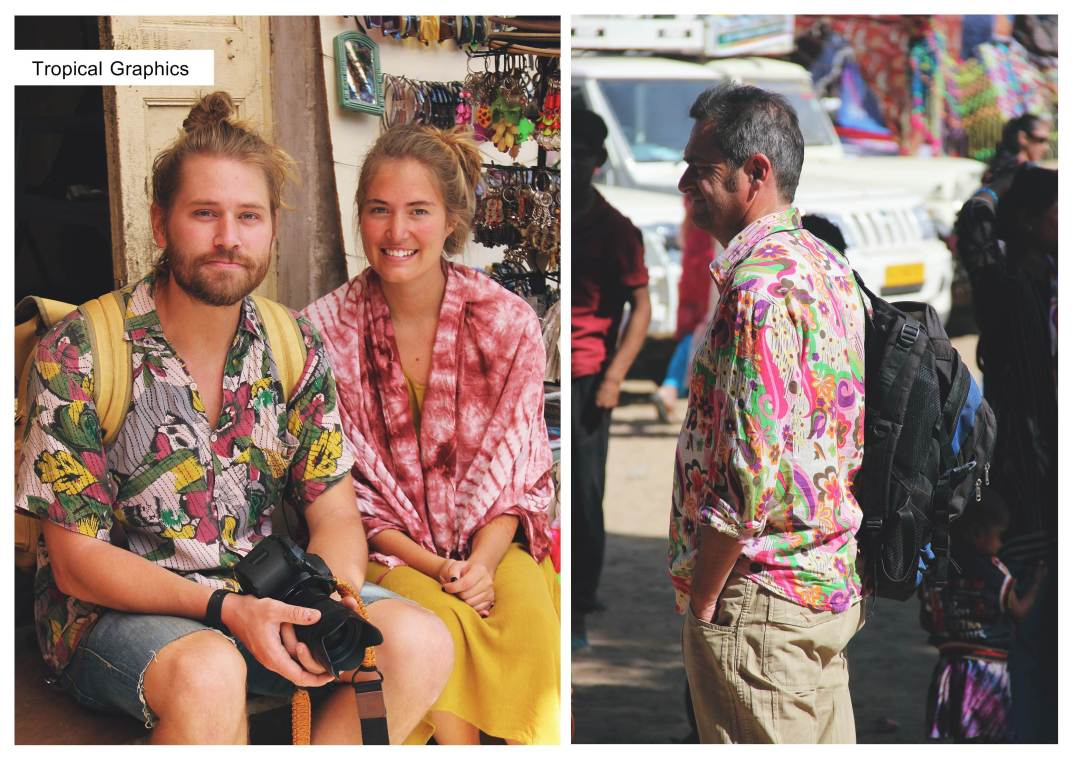 colorful shirt-hawaiian style-tourism chic- pushkar-street style