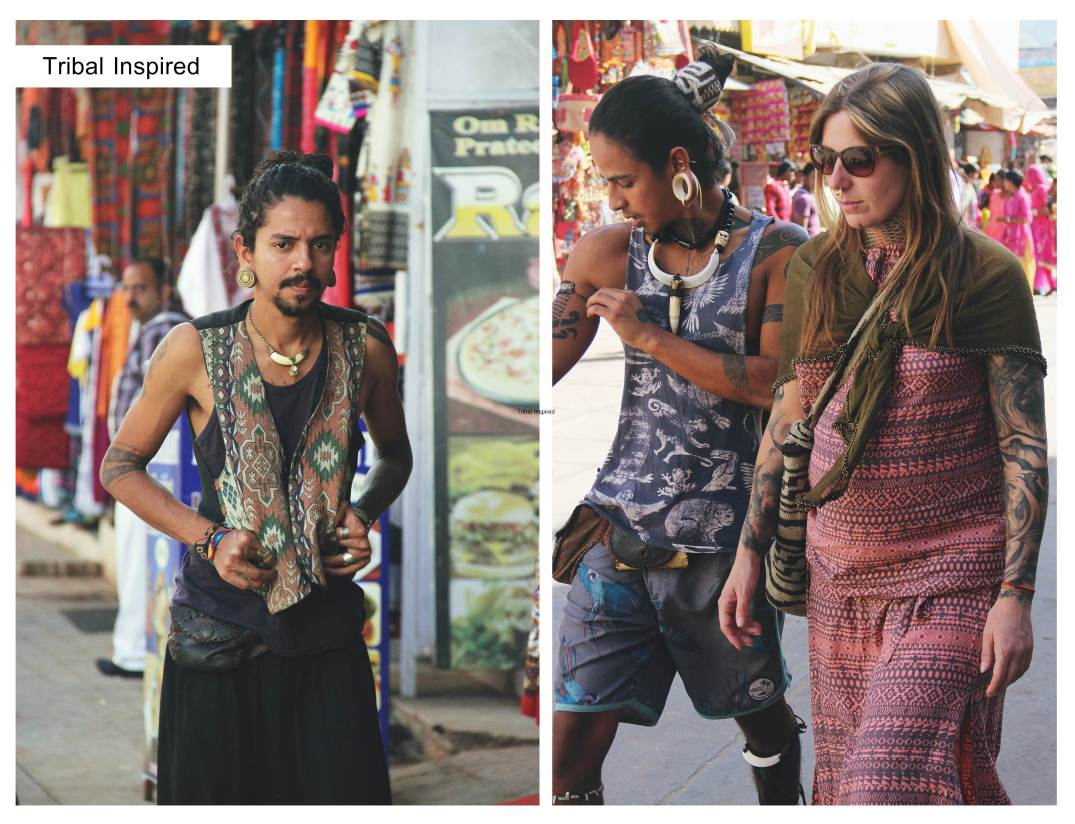 Tribal inspired-hippies on streets of pushkar-street style